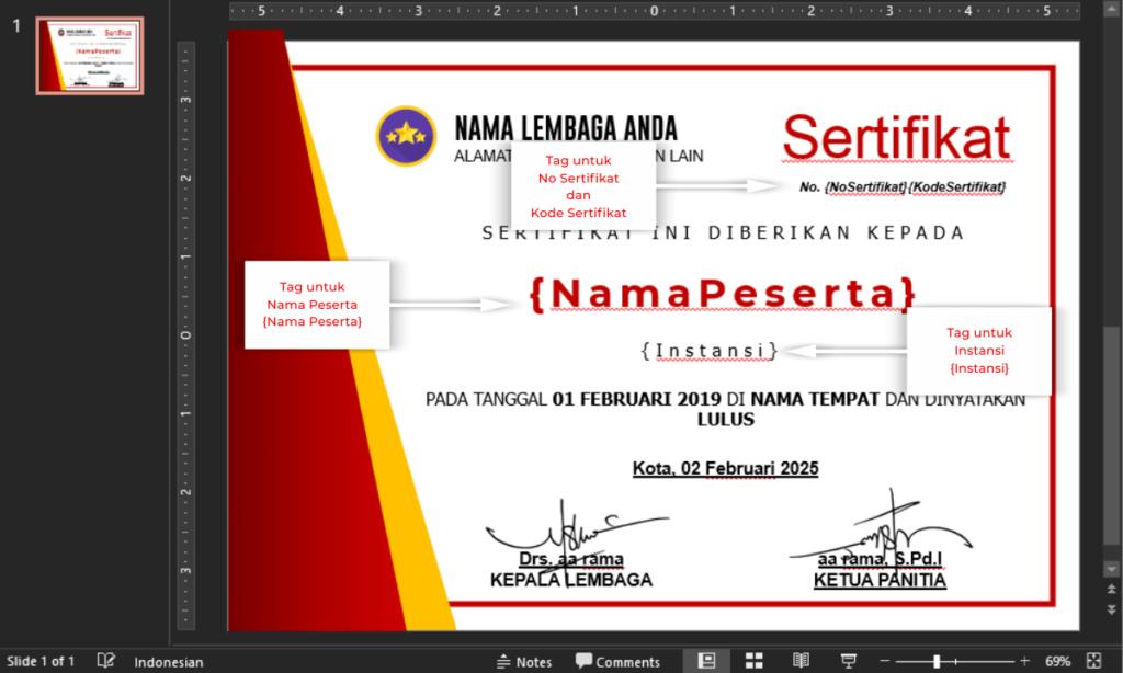 contoh ppt sertifikat